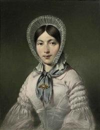 portrait of marianne van eck née verhoeff by jean augustin daiwaille
