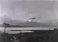 sonnenuntergang an südlicher küste by johann theodor goldstein