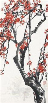 红梅图 by xu yuanqing