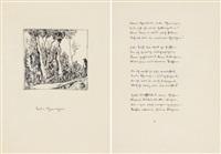 liebe schmerzen, gedicht & tuschfederzeichnung by hermann hesse