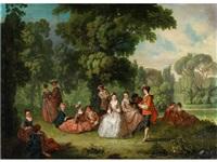 galante rokoko-gesellschaft im park by pieter angillis
