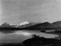 blick vom genfer becken auf den mont blanc by karl ludwig lincke