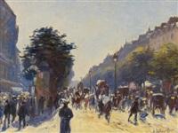 boulevard des italiens by anatole eugène hillairet