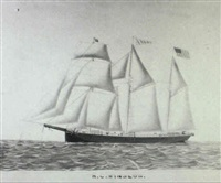 portrait of the ship h.c. winslow by c. w. norton