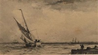 shipping of a harbour by albert markes