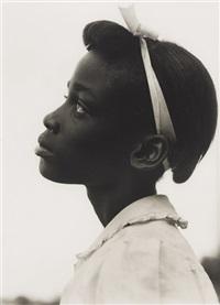 untitled, girl's profile by consuelo kanaga