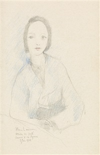 femme assis by marie laurencin