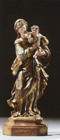 virgin and child by hispano flemish school 17