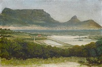 table mountain and the cape town coastline by archibald macrae