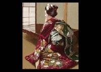 maiko resting by yoshitaro araki