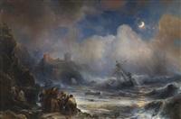 naufrage de l'un des vaisseaux de l'armada espagnole sur la côte by baron jean antoine théodore gudin
