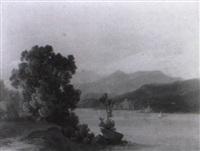 oberitalienischer gebirgssee mit segelbooten by johann theodor goldstein