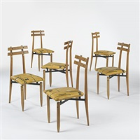 set of 6 dining chairs by roberto aloi