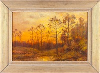fall sunset by charles appel