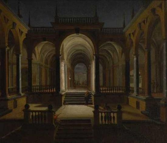 nächtliche palasthof by dirck van delen