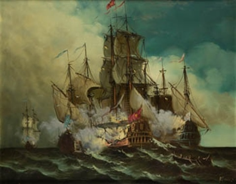 batalla naval by salvador abril y blasco