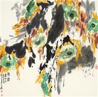 雨霁 (landscape) by liu bojun