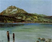 vierwaldstättersee mit pilatus by jacques f. fuchs