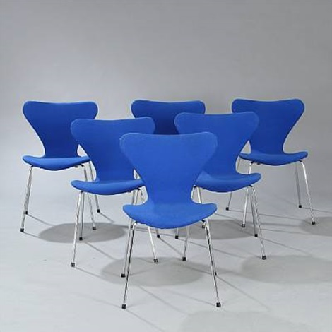 seven chair set of 6 by arne jacobsen