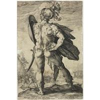 roman hero by hendrik goltzius