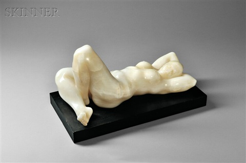 reclining female nude by armando amaya