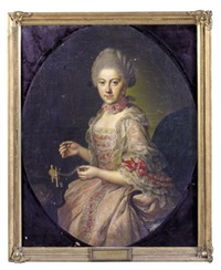 portrait of augusta dorothea princess of brunswick-wolfenbüttel by anna rosina lisiewski