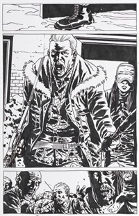 the walking dead, pg. 119 (from tome pièges) by charlie adlard