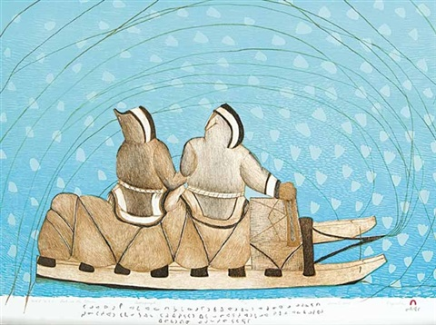 lost in the storm by napatchie pootoogook