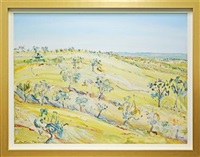 hunter valley landscape by matthew perceval