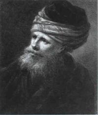 ein bartiger mann in orientalischer gewandung by johann heinrich tischbein the younger