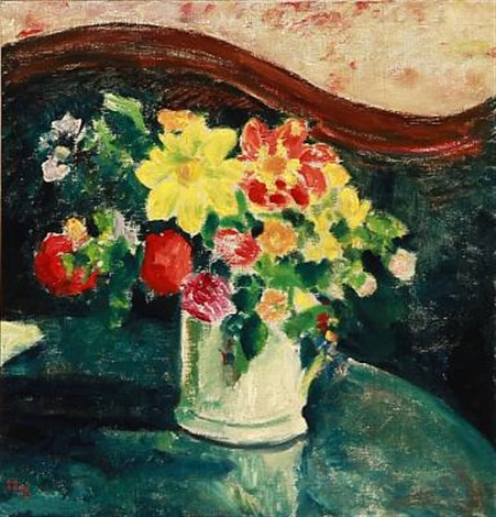 still life with flowers in a vase by sigurd swane