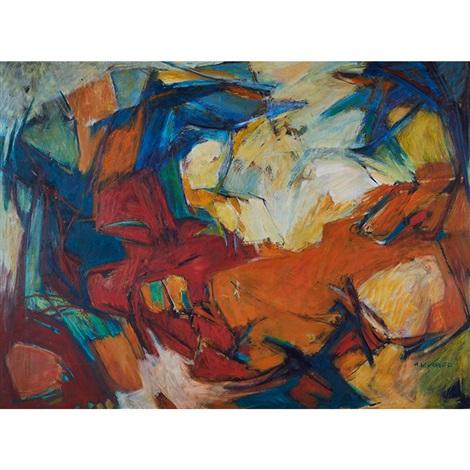 Rustic Landscape By Hale Aspacio Woodruff