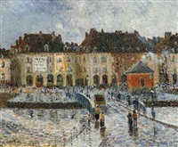 le port de la poissonerie, dieppe by gustave loiseau