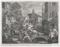 the humors of an election (portfolio of 4) by william hogarth