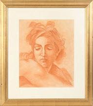 portrait of a young qoman in a bandanna by angel zárraga
