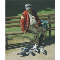 the birdman of stanley park, vancouver, b.c. by geoffrey allan rock