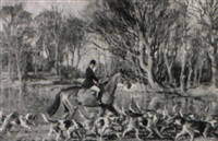 horseman and hounds by john theodore eardley kenney