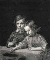 geschwisterpaar in der loge by karl friedrich boser