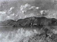 die fraueninsel im chiemsee im fr_hsommer by hermann von le suire