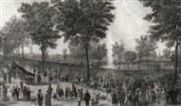 view of the water celebration, on boston common october 25th, 1848 by benjamin franklin smith