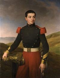bildnis eines knaben in französischer grenadier-uniform by alexandre-francois caminade
