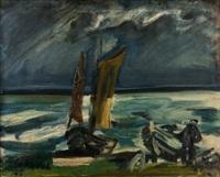 fischerboote an der ostsee by walter jacob