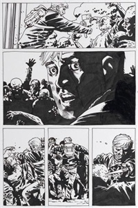 the walking dead, pg.119 (from tome pièges) by charlie adlard