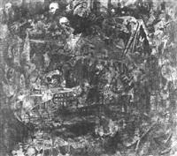 surrealistische ruinenlandschaft mit fabelwesen by mags glanzmann