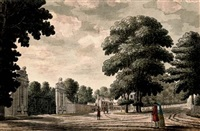 a landscape design for the lion gate, hampton court palace by james spyers
