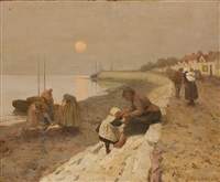 fishing scene by eanger irving couse