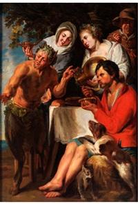 il satiro e il contadino (der satyr beim bauern) by jacob jordaens