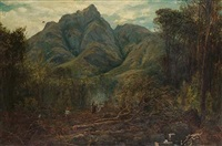 woodland clearance, south africa by william henry simpson