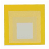 study for homage to the square: darker plays lighter by josef albers