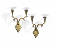 two-light sconces (pair) by dagobert peche